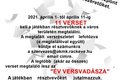 Költészet Napja 2021 – Versvadász